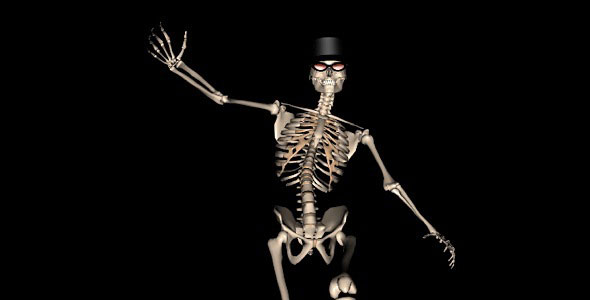 Skeleton Funny Dance III