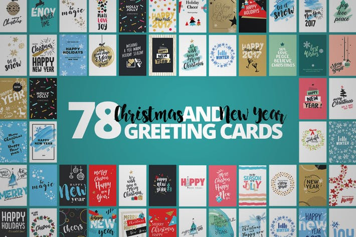 20 Cool PSD EPS & AI Christmas Card Templates 2017