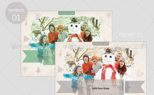 Happy Holiday/ Merry Christmas - Greeting Card