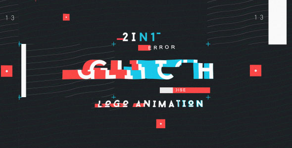 Modern Glitch Logo ( 2in1)