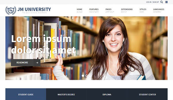JM University - education Joomla template