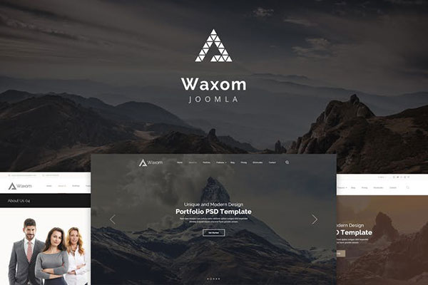 Waxom — Clean and Universal Responsive Joomla