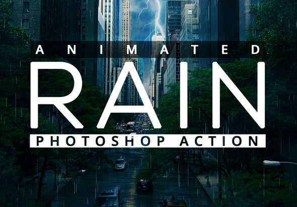 Animated Raining Photoshop Action