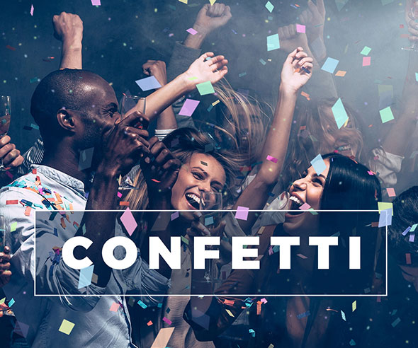 Gif Animated Confetti / Photoshop Action