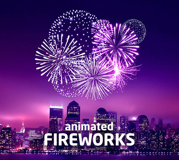 Gif Animated Fireworks Photoshop Action