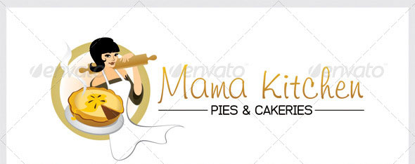 Logo Template Mama Kitchen Pies and Catering