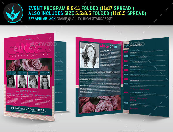Breast Cancer Charity Event Program Template