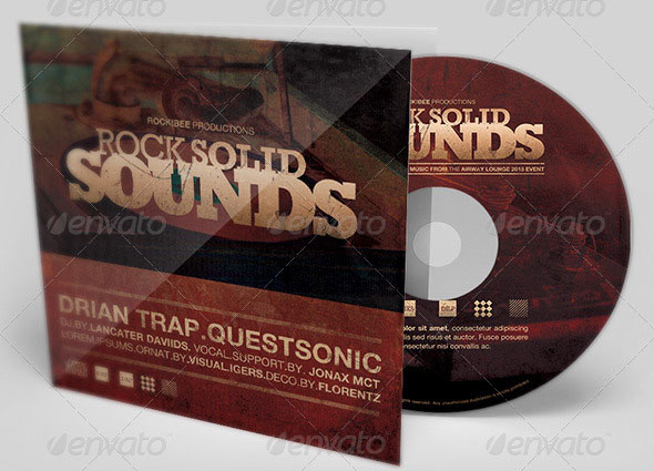 Rock Solid Sounds CD Artwork Template