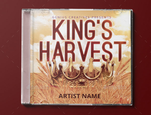King's Harvest Album Cover Template