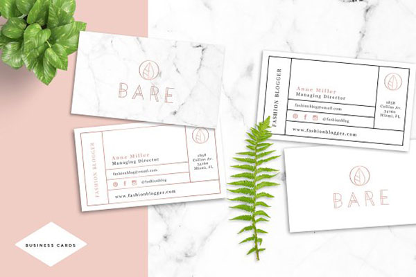 BareFashion Business Card Template