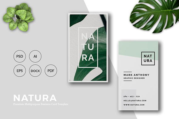 NATURABusiness Card Template