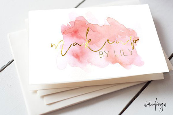 PinkWatercolour Business Card