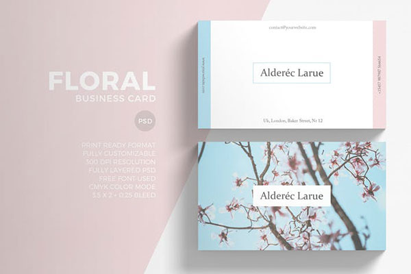 Floral Minimal Business Card