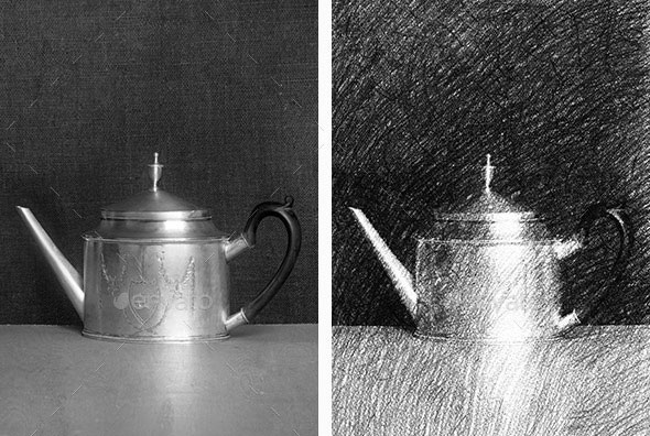Pencil Drawing Mockup - Photo To Sketch Converter