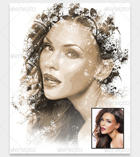 Artistic Painting Photo Effect Frame