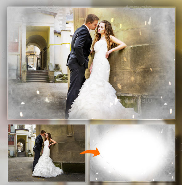 Abstract & Wedding Photo Frame V2
