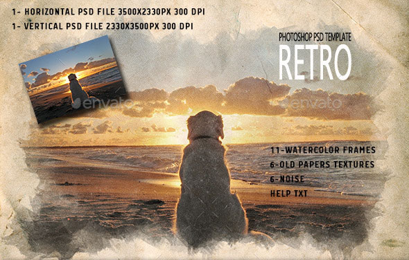 Retro Photoshop PSD Template