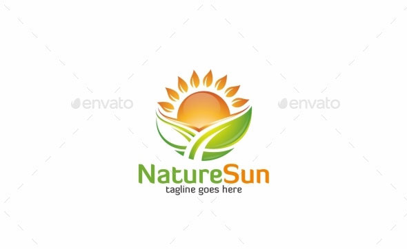 Nature Sun - Logo Template