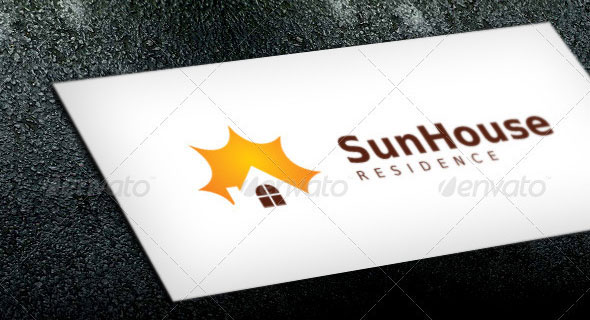 Sun House Logo Template