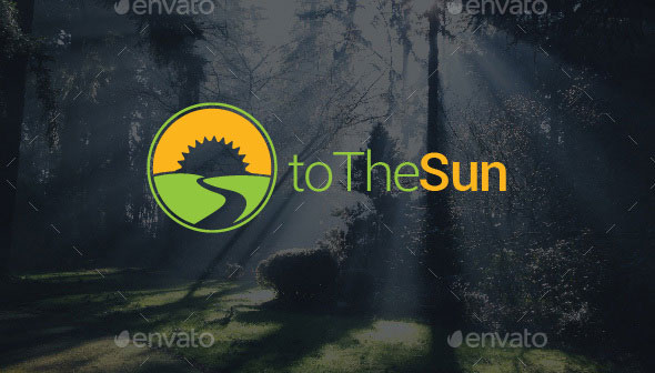To The Sun Logo Template