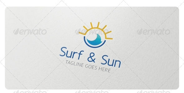 Surf & Sun Logo Template