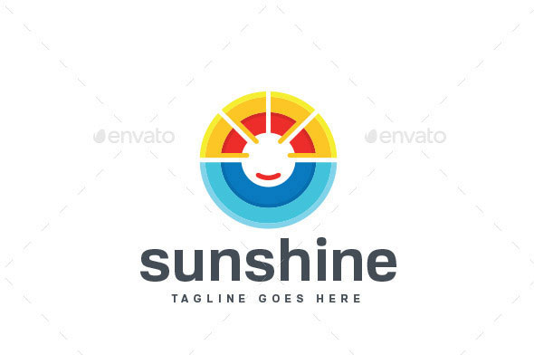 Sun Shine Logo Template