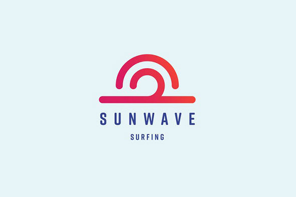 Sun Wave Logo Template