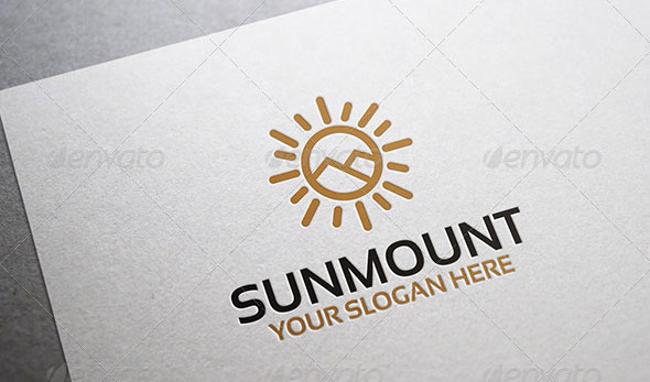 Sun Mount Logo Template