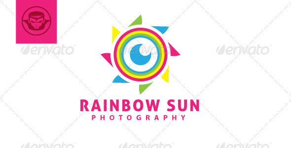 Rainbow Sun Logo Template