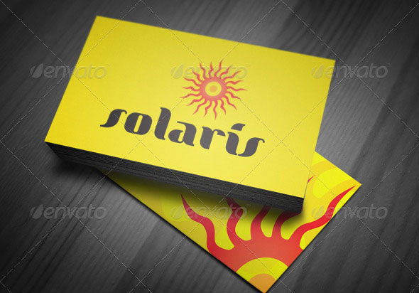 Solaris - Solar Energy - Abstract Sun Logo