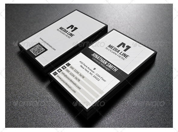 Black And White Business Card 30