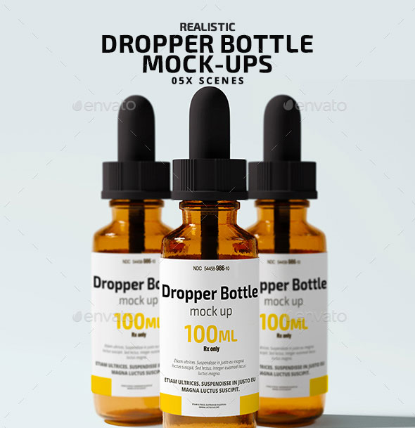 Dropper Bottle Mock Ups