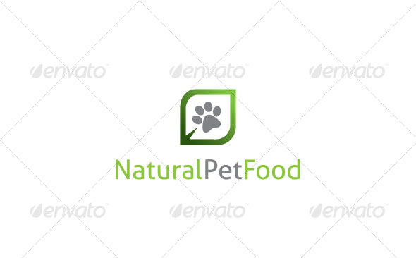 Natural Pet Food Logo Template