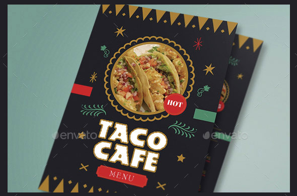 Mexican Food Flyer Menu