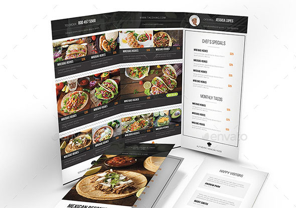 Mexican Restaurant Trifold Menu
