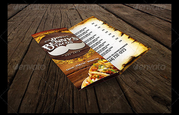 Trifold Mexican Menu Template