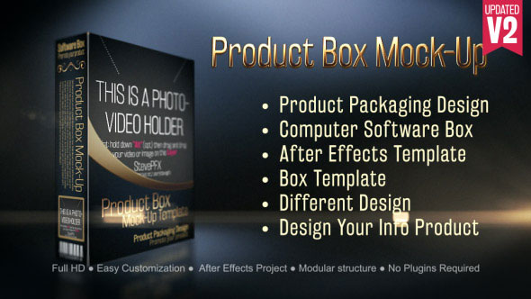Product Box Mock-Up Template