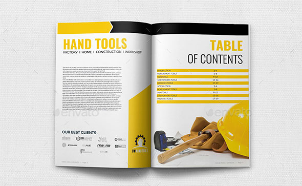 Hand Tools Products Catalog Brochure Template - 24 Pages
