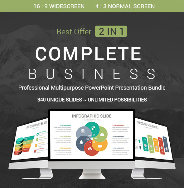 Complete Business - 2 In 1 PowerPoint Presentation Template Bundle