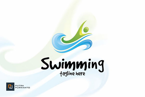 Swimming - Logo Template