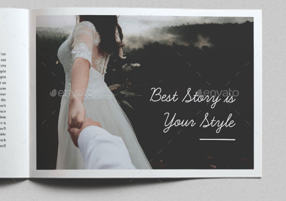 Anna Wedding Photography Brochure Template