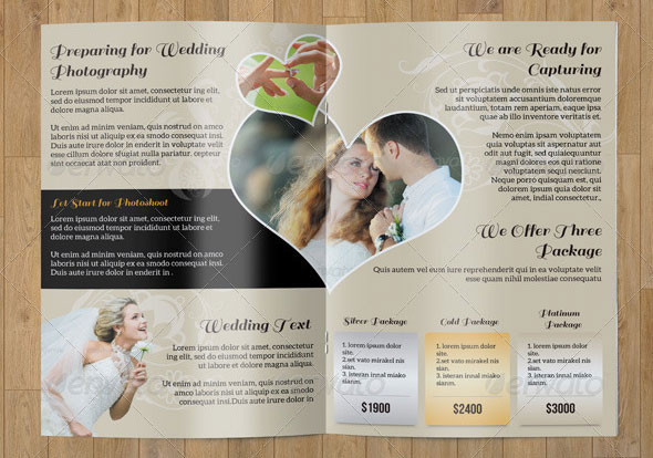 Bifold Brochure- Wedding Photography
