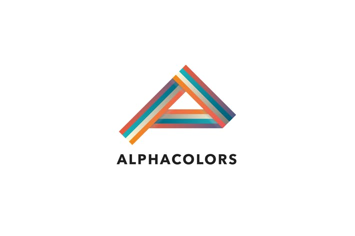 Alpha Colors A Letter Logo Template