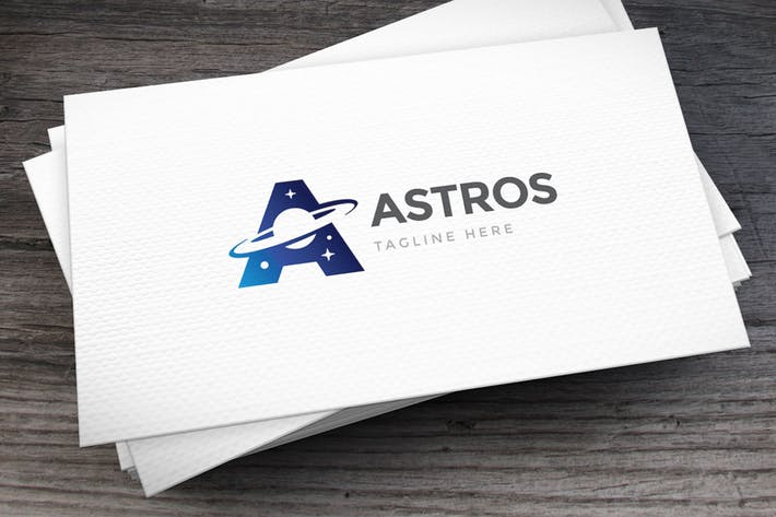 Astronomy Letter A Logo Template