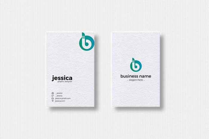 B Letter Logo & Vertical Business Card Template