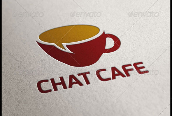Chat Cafe Logo Template