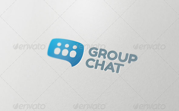 Group Chat - Logo Template