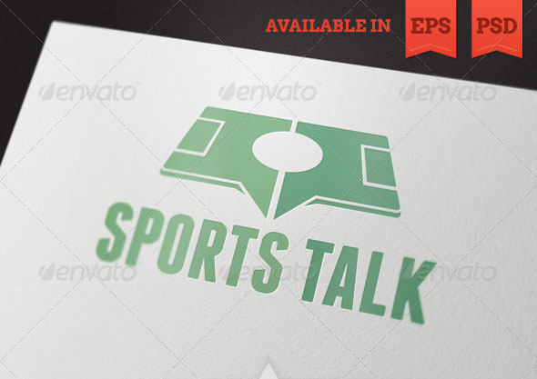 Sports Talk Logo Template