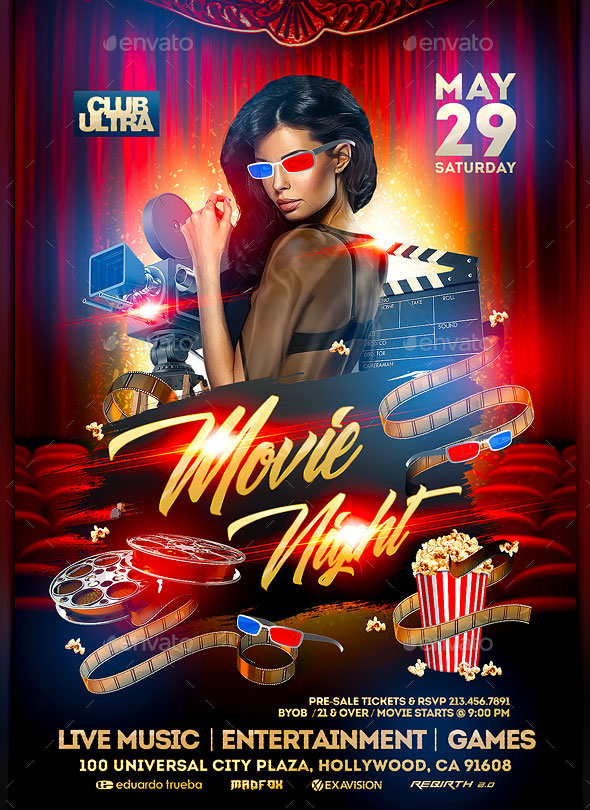 Movie Night Event Flyer
