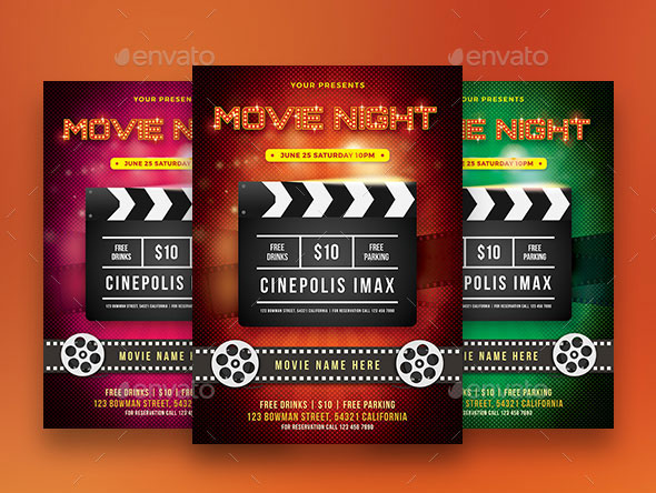 Movie Night Flyer